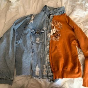 Furst of a kind jean/sweater jacket